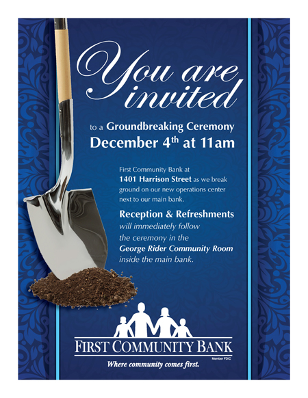 First Community Bank Groundbreaking