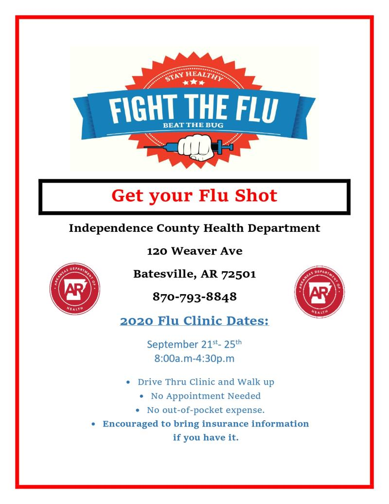 Independence County Flu Shot Clinic
